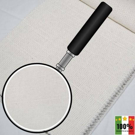 ECRU' 403 - Tessuto per divani poltrone 52% Cotone 8% Viscosa 8% Lino 32% Poliestere