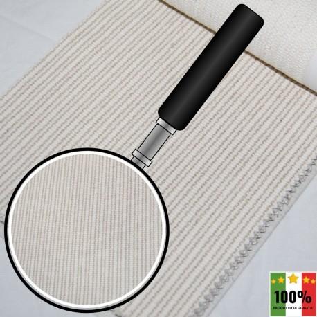 ECRU' 413 - Tessuto per divani poltrone 32% Cotone 6% Viscosa 35% Lino 27% Poliestere