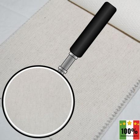 ECRU' 417 - Tessuto per divani poltrone 47% Cotone 10% Viscosa 10% Lino 33% Poliestere