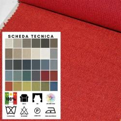 RIVIERA - Tessuto per divani 58% Cotone 28% Viscosa 14% Lino 30 colori
