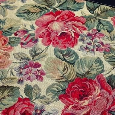 Gobelin misto cotone disegno rose...