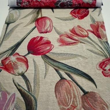 Gobelin misto cotone disegno tulipani...