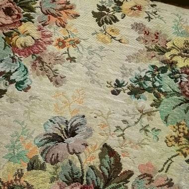 Gobelin misto cotone disegno floreale...